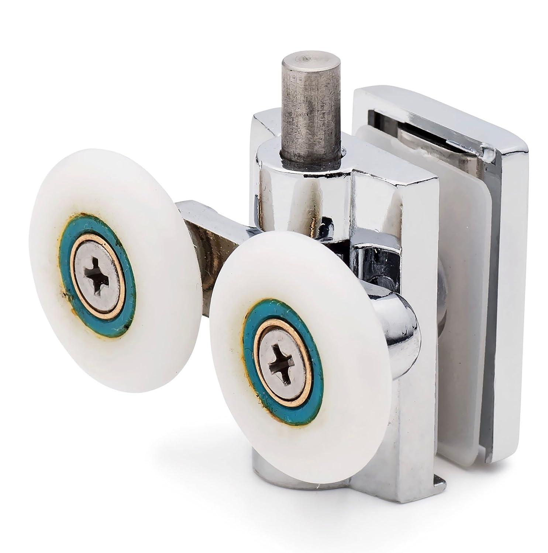 2 x Double Bottom Zinc Alloy Shower Door ROLLERS/Runners/Wheels 26mm wheel diameter K051