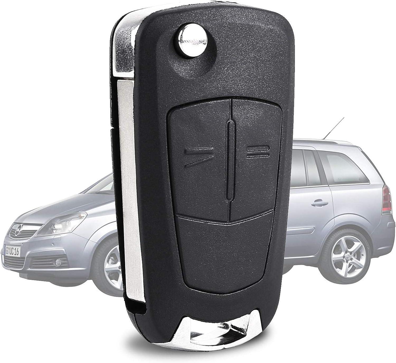 2 Tasten Auto Klapp Schlüssel für Vauxhall Opel Corsa Astra Vectra Zafira