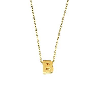 amazoncom emmas jewelry co b initial necklace dainty b necklace personalized initial necklace letter b necklace b home kitchen