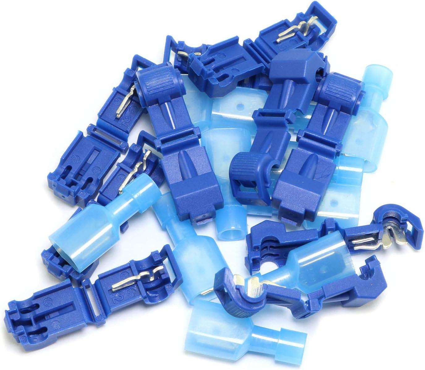Partstock 60PCS Quick Splice Electric Wire Terminals Connectors Self-Stripping Electrical T Tap Connector Set Crimp Assortment Kits