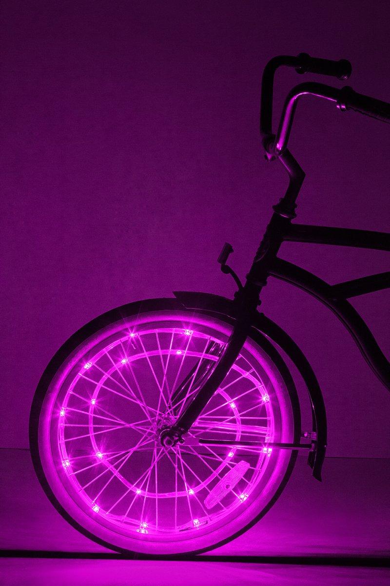 Brightz, Ltd. Wheel Brightz LED Bicycle Accessory Light (for 1 Wheel), Pink by Brightz, Ltd. (Image #2)