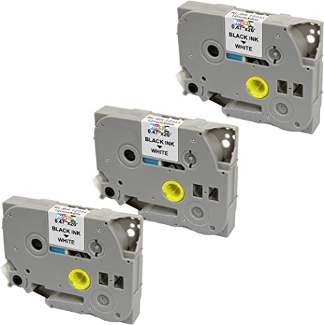 3x Label Tape TZ231 TZe231 12mm 8m für Brother P-Touch H100LB 1000 1010 D210VP