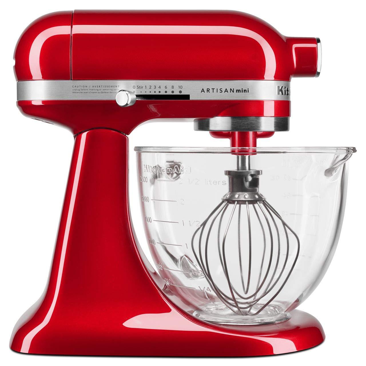 KitchenAid KSM3306XCA Artisan Mini Design Series 3.5 Quart Tilt-Head Stand Mixer, Candy Apple Red by KitchenAid