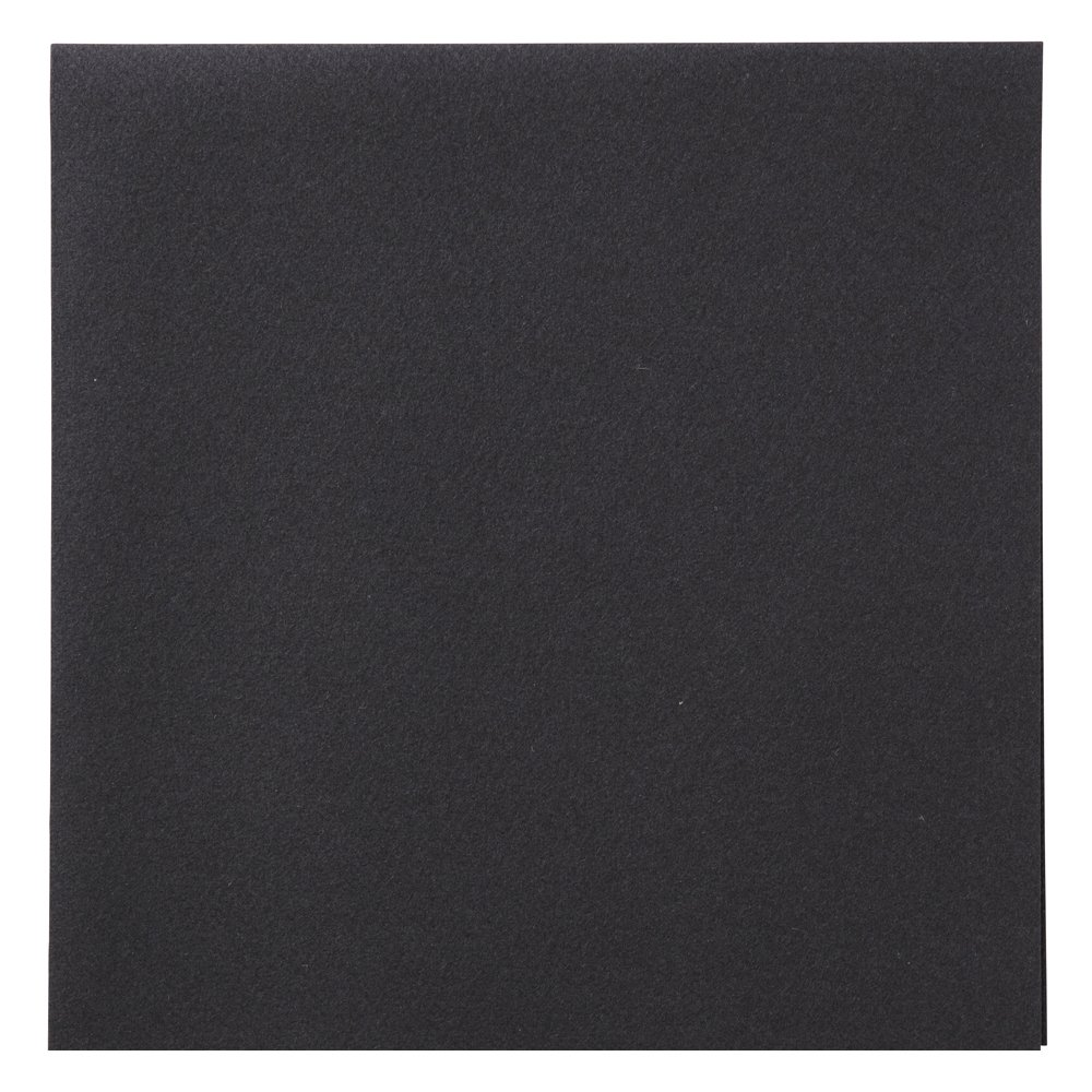 Hoffmaster 125073 Linen-Like Dinner Napkin, 1/4 Fold, 17'' Length x 16'' Width, Black (Case of 300)