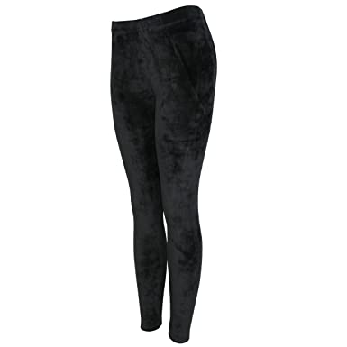 69ab4b635745ce TD Collections Womens Stretchy Velvet Leggings - Ultra Soft Velour Warm  Winter Pants - High Waist