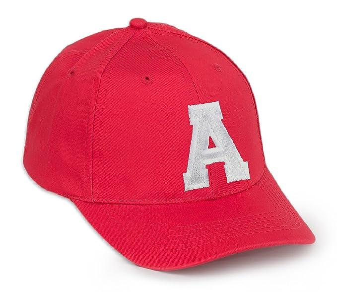 d9db18153648 Gorra de béisbol, color rojo con letra en negro, letras AZ