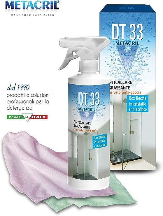 Limpiador y desincrustante antigotas DT 33 para cabina de ducha - 500 ml + paño multiusos: Amazon.es: Hogar