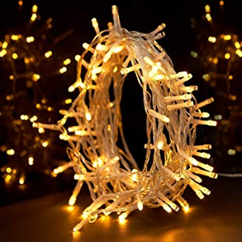 String Lights Sunnest Fairy Lights Warm White 100 Led 10m Decoration Tree Lights For Christmas Wedding Birthday Holiday Party Indoor Outdoor Amazon Co Uk Lighting