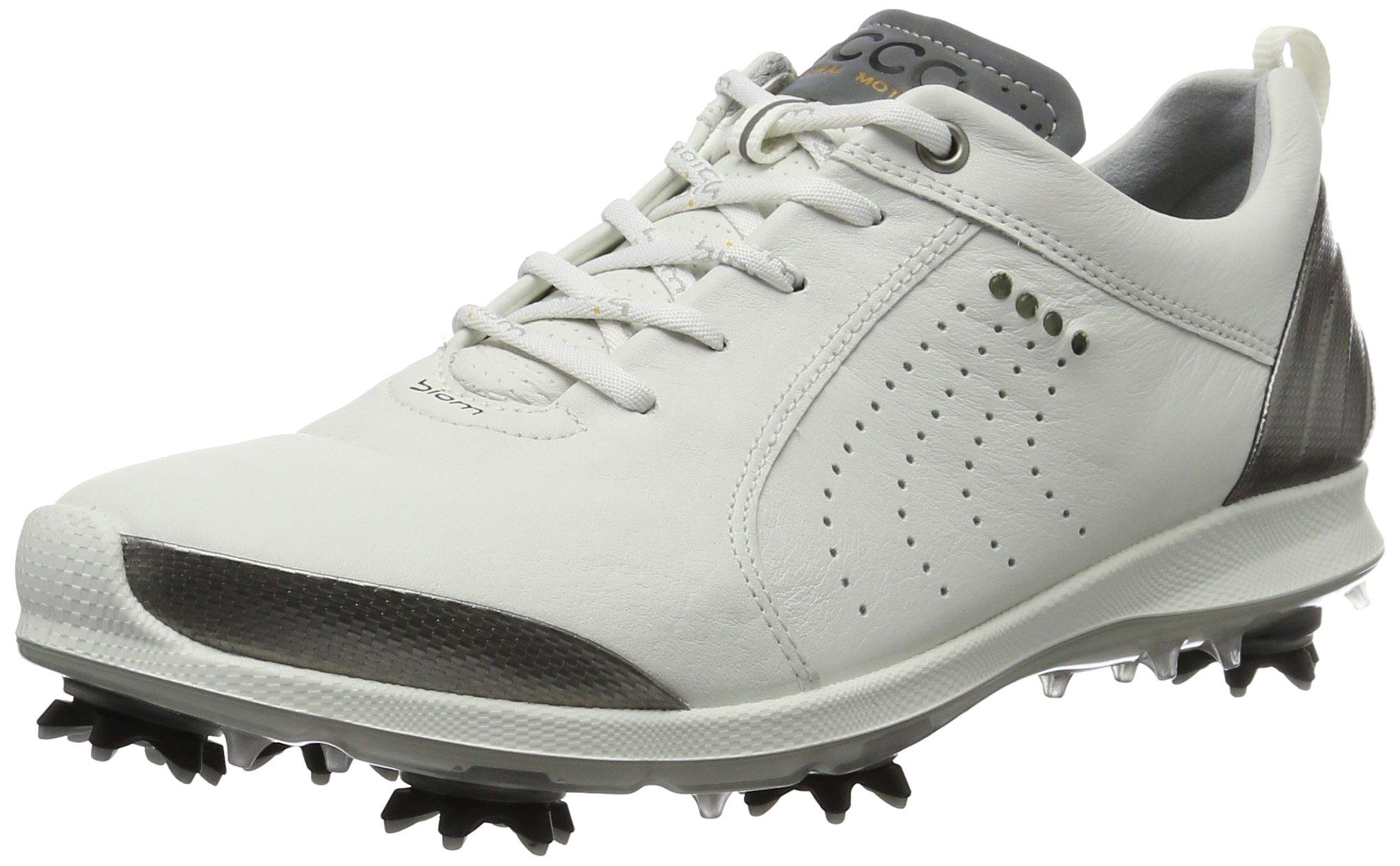 ECCO Women's Biom G 2 Free Golf Shoe, White/Buffed Silver, 36 EU/5-5.5 M US