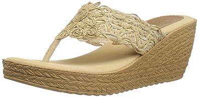 Sbicca Women's Porto Wedge Sandal, Natural, ...