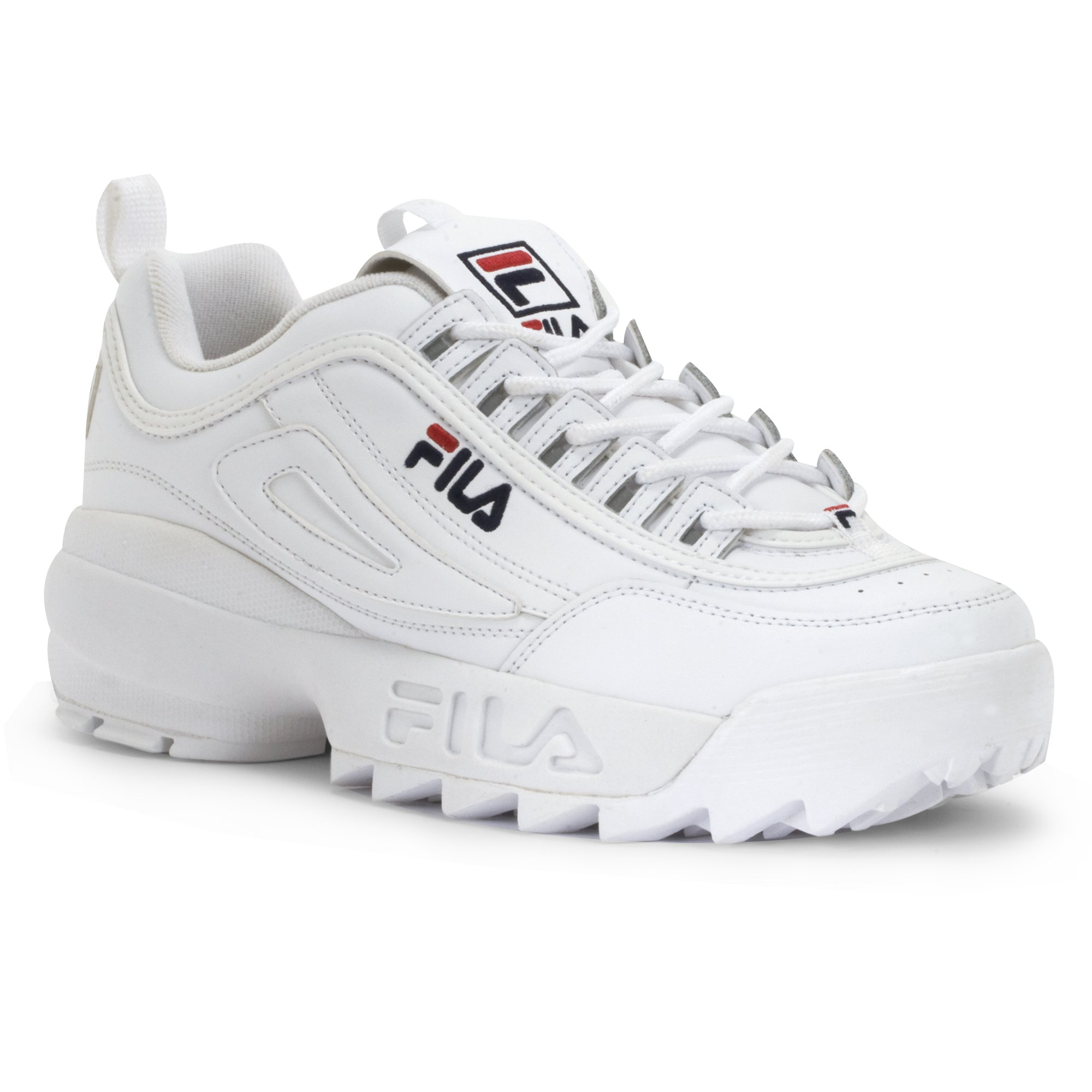 8dcbd6728463 Galleon - Fila Men s Disruptor II Inspired Sneakers White 14 M