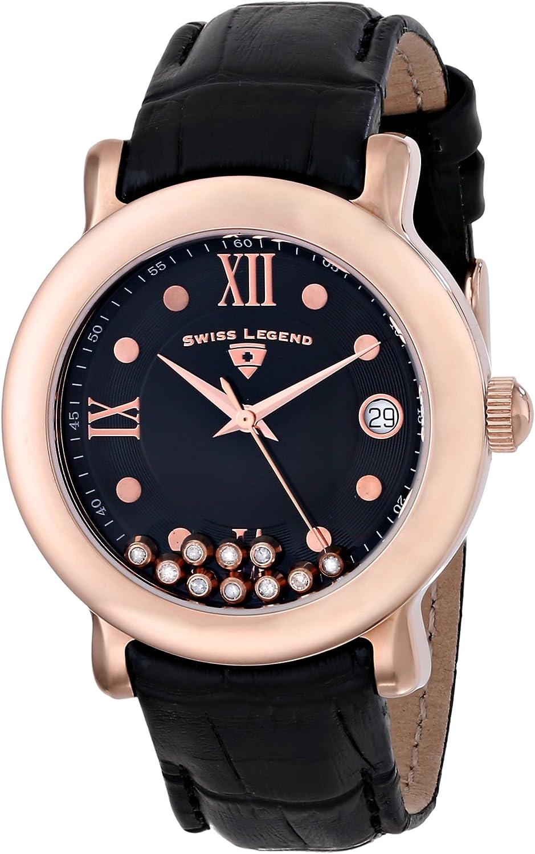 Swiss Legend Women s 22388-RG-01 Diamanti Analog Display Swiss Quartz Black Watch