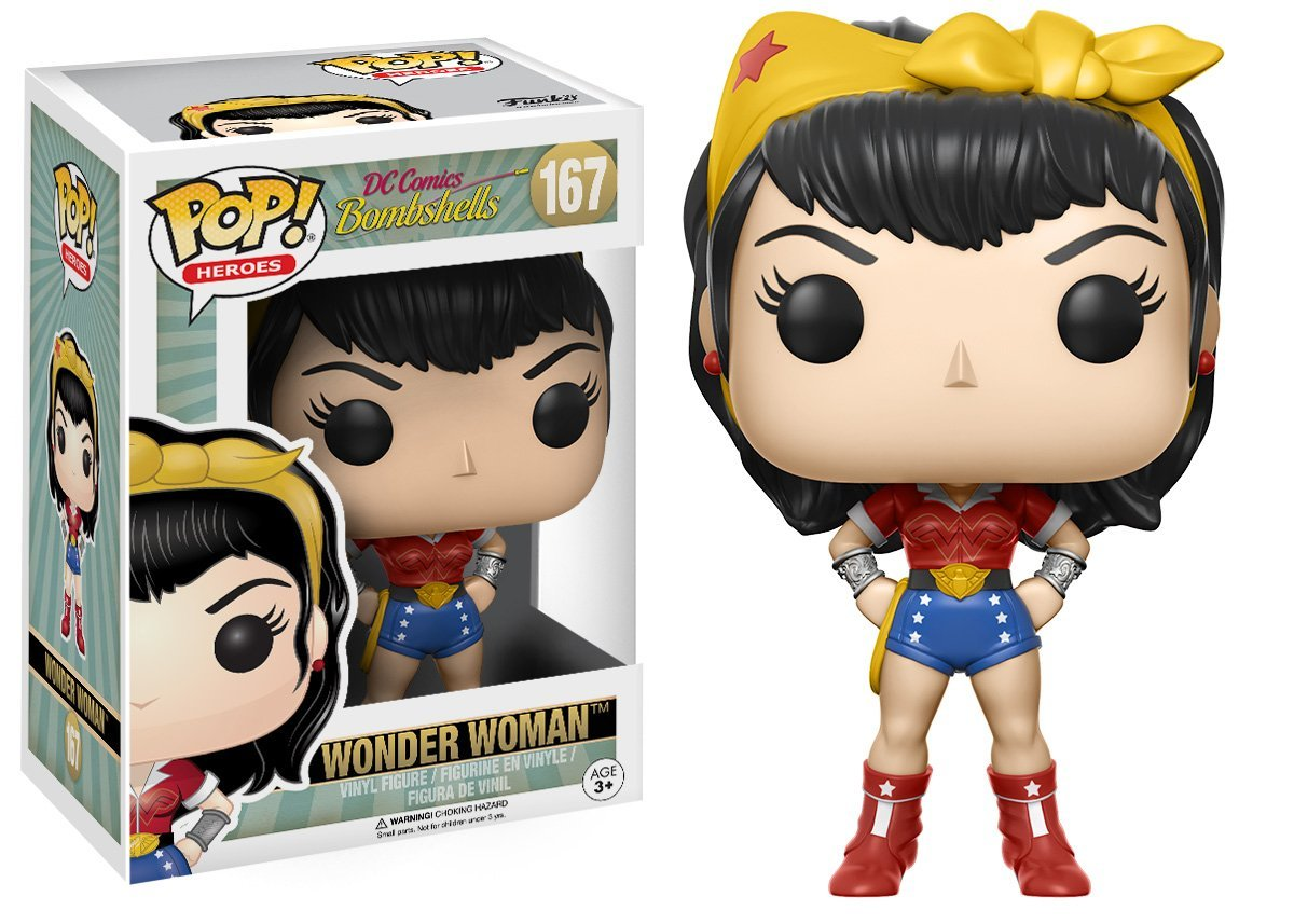 32c3c99a92a Amazon.com  Funko POP Heroes  DC Bombshell Wonder Woman Toy Figures (Styles  May Vary)  Funko Pop! Heroes   Toys   Games