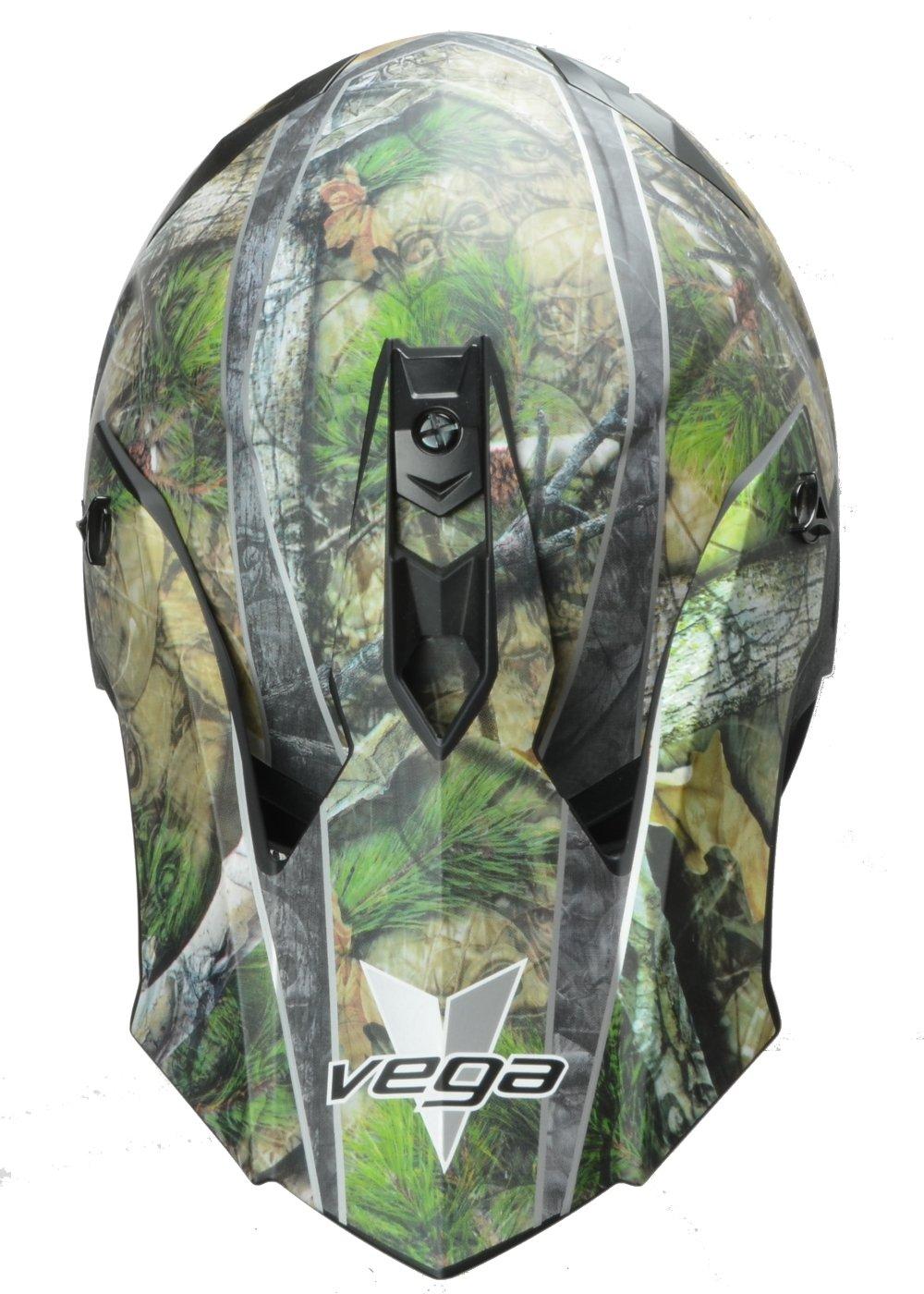 Vega Helmets VF1 Lightweight Dirt Bike Helmet – Off-Road Full Face Helmet for ATV Motocross MX Enduro Quad Sport, 5 Year Warranty (Skull Camo, X-Large) by Vega Helmets (Image #3)