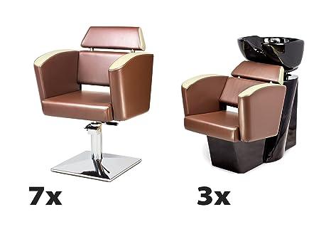 NEO 7 x Sillón peluqueria + 3 x Lavabos de peluquería ...