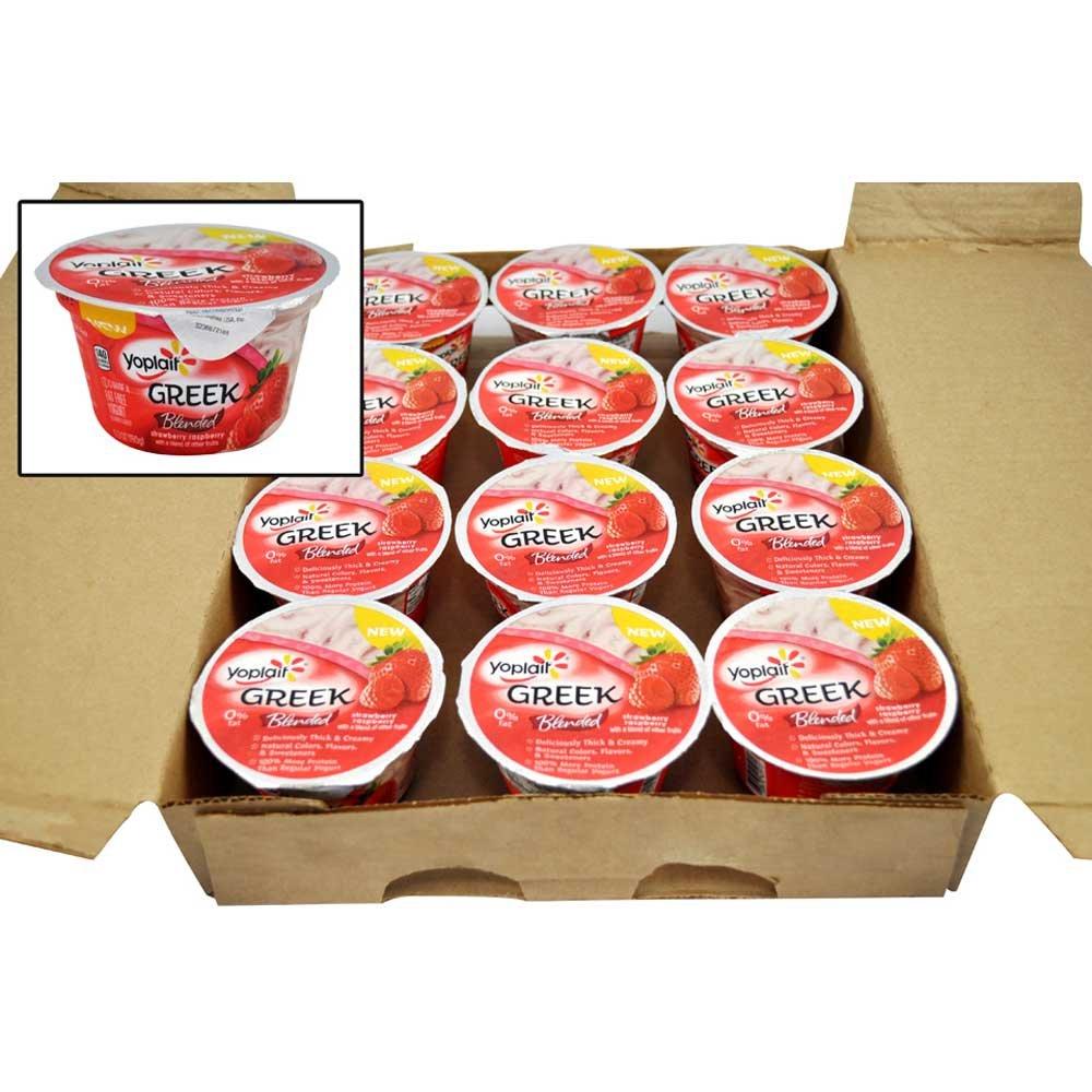 Yoplait Greek Blended Strawberry Raspberry Yogurt, 5.3 Ounce -- 12 per case. by General Mills (Image #1)