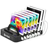 Okra 7-Port USB 16.8A Charging Station PRO [Most Powerful] Universal Desktop Tablet & Smartphone Multi-Device Hub Charging Dock for iPhone, iPad, Galaxy, Tablets [Charge 7 Tablets at Once] (Black)