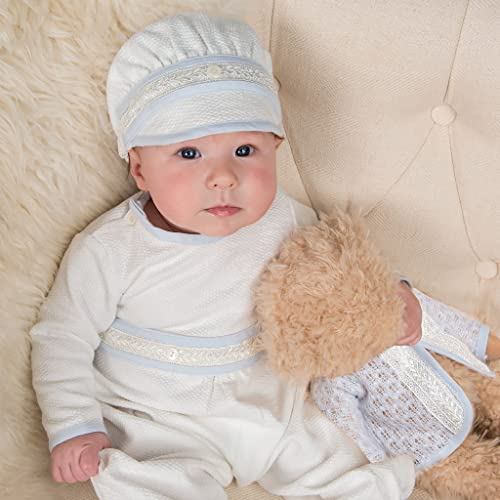 Amazon.com  Ivory Baby Boy Christening and Baptism Hat  Handmade dc42f712cd4