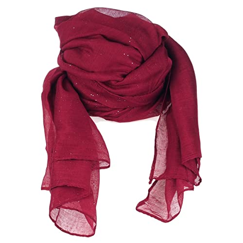 moonbow - Fular - para mujer Rojo granate Talla única