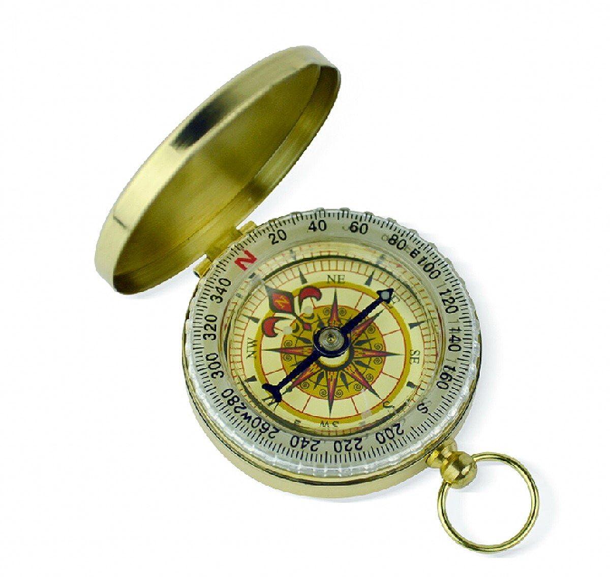 1 Piece Antique steampunk nautical pendant Retro vintage Luminous compass gift for men CYD