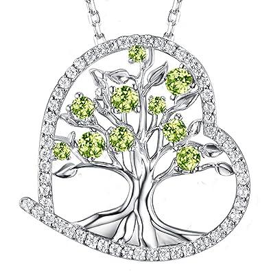 STERLING SILVER SAPPHIRE /& DIAMOND NECKLACE ANNIVERSARY BIRTHDAY GIFT