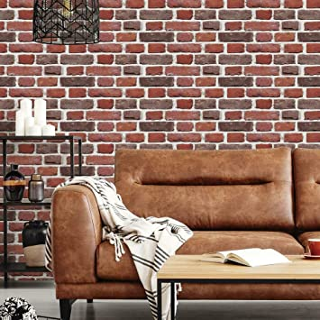 Amazon Com 3d Brick Wall Stickers Wall Paper Self Adhesive Panel Decal Pe Wallpaper Peel And Stick Wall Panels For Tv Walls Sofa Background Wall Decor 19 35 Sq Ft Brick Black Kitchen Dining