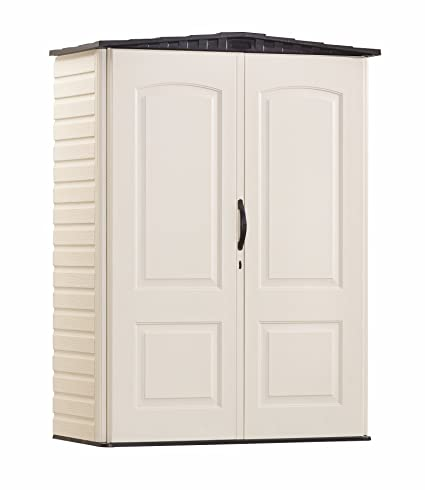 Rubbermaid Plastic Small Outdoor Storage Shed, 53 Cubic Feet, FG5L1000SDONX