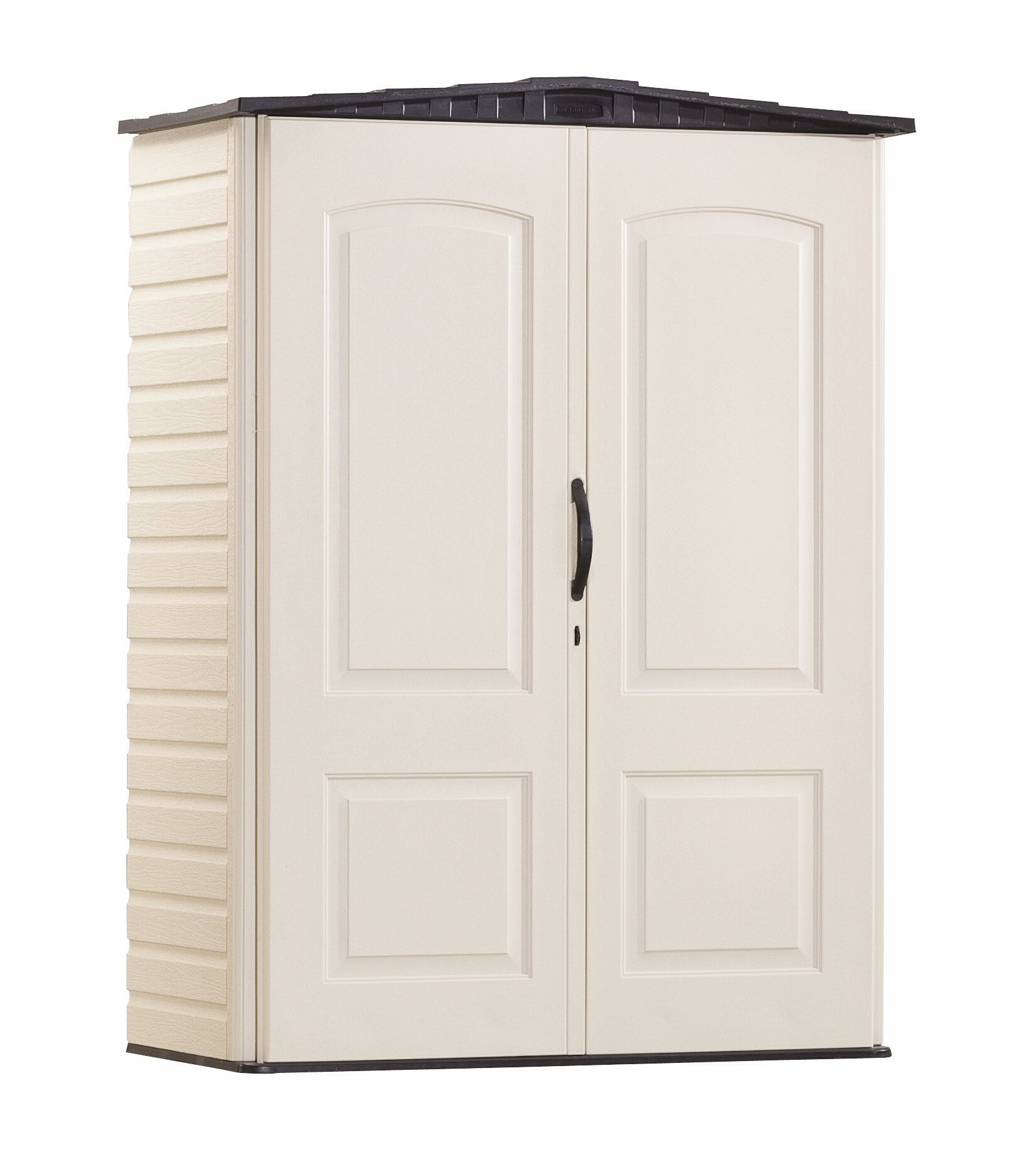 Rubbermaid Plastic Small Outdoor Storage Shed, 53-Cubic Feet, FG5L1000SDONX