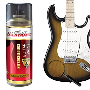 Pintura para guitarra de nitrocelulosa, 400 ml, color marrón: Amazon.es: Instrumentos musicales
