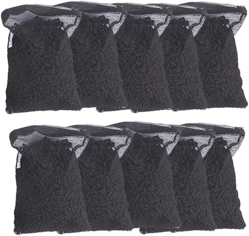 Aquapapa 10 lbs Activated Carbon Charcoal Pellets in 10 Mesh Bags for Aquarium Fish Tank Koi Reef Filters