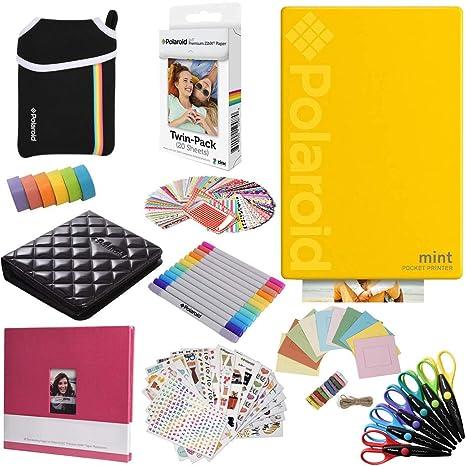 Polaroid Mint: Impresora instantánea (Amarillo) PAQ con Todo + 20 ...