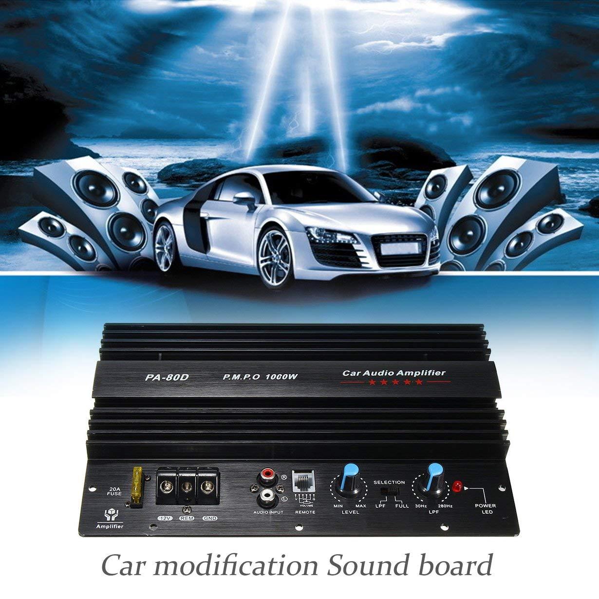 Powerful Bass Subwoofer 105 dBA Car Audio High Power Amplifier Amp 30Hz~280 KHz