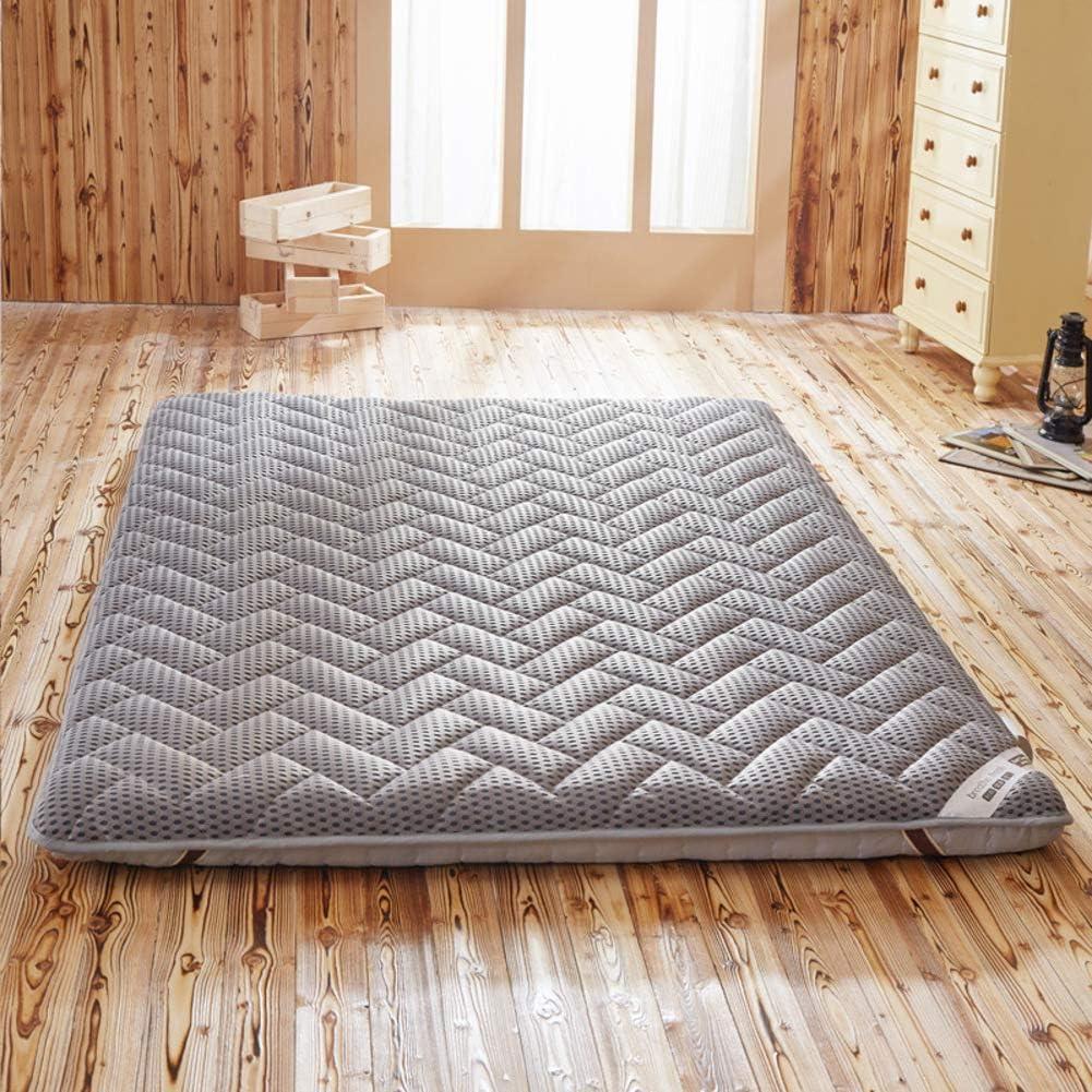 K.LSX Estera De Tatami Futon Japonés, 10 Cm De Espesor Respirable Colchón Espuma Plegable Cama Colchón Apto para Dormitorios Inicio Hotel-a 150x190cm(59x75inch)
