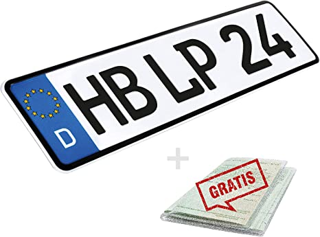 L P Car Design License Plate 52 Cm X 11 Cm Number Plate 520 Mm X 110 Mm Choice Of Number Plate Din Car Registration Plate Also For Bicycle Carrier Trailer