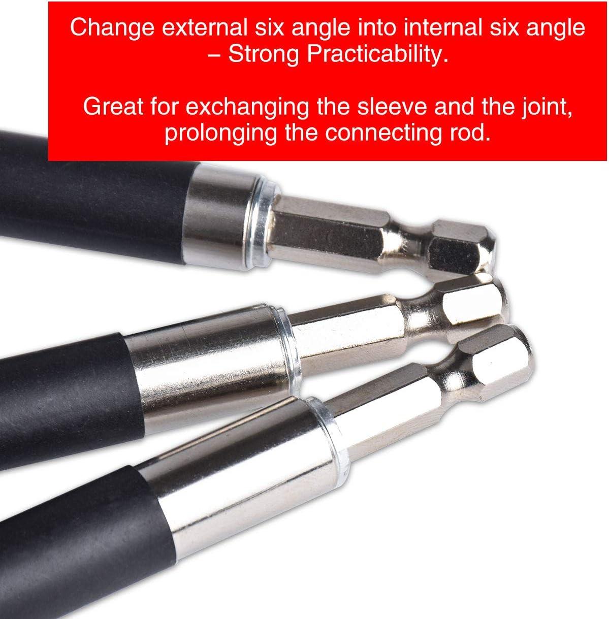 140-240mm adaptateur de tige de connexion /à tige hexagonale de 1//4 pouce 120-200mm adaptateur damortisseur magn/étique 80-120mm KATUR Support /à embout de tournevis magn/étique /à d/égagement rapide