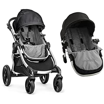 6e1efa7de54b Amazon.com : Baby Jogger City Select with Second Seat Kit Tandem Stroller -  Black/Grey : Baby