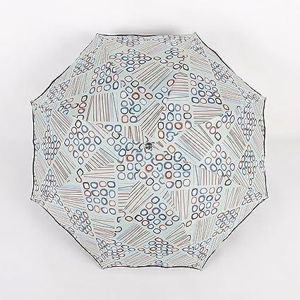 BiuTeFang Paraguas Paraguas sombrillas de vinilo figuras geométricas paraguas plegable de protección solar 65x96cm