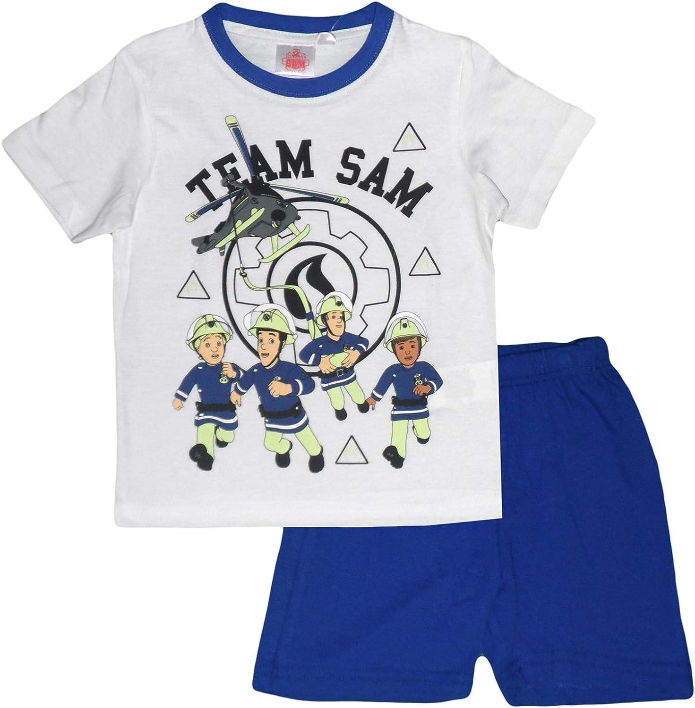 Fireman Sam Pijama Dos Piezas - para niño Blanco 6 años ...