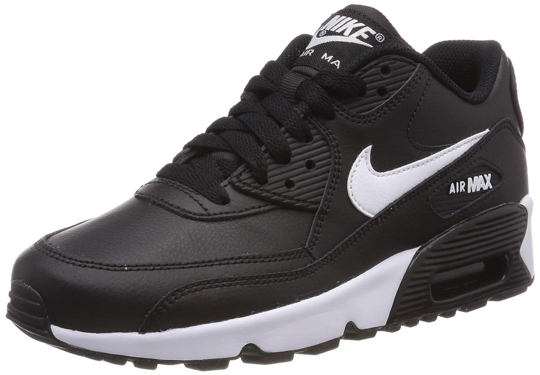 Nike Mädchen Air Max 90 Ltr (Gs) Laufschuhe, schwarzweiß