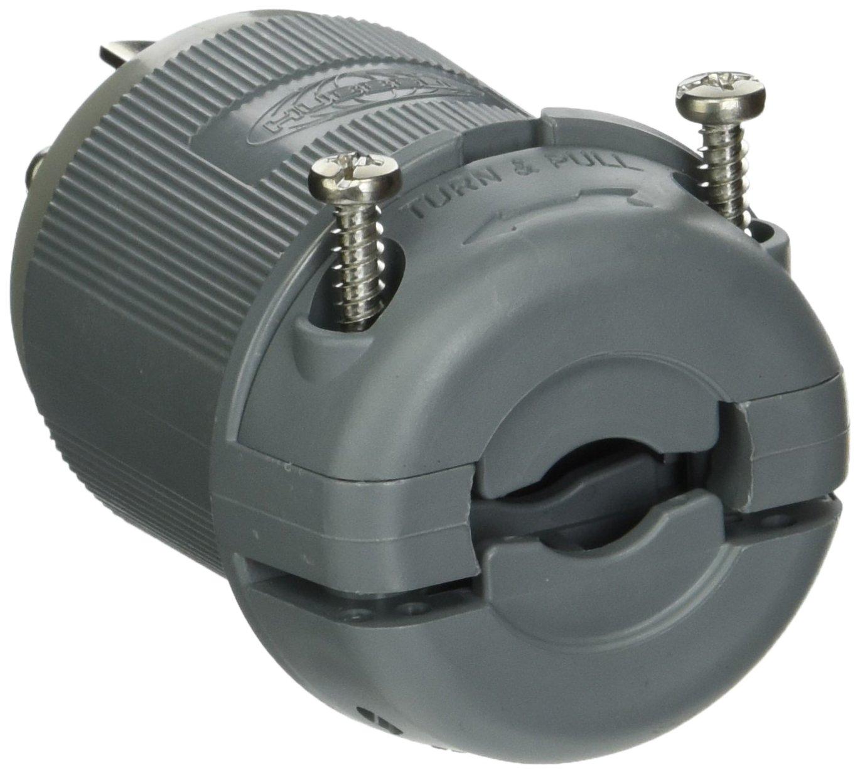 L5-30P HUBBELL WIRING DEVICE-KELLEMS HBL2611F Plug 125VAC 2P 30A 3W