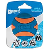 PetMate Canine Hardware Chuckit Ultra Squeaker Ball Natural Rubber Dog Toy MD