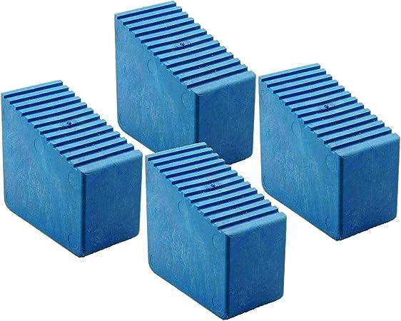 Pies de goma para escaleras de madera, 4 unidades 3 – 8 travesaños Tamaño interior 56 x 23 mm Azul HB40: Amazon.es: Bricolaje y herramientas