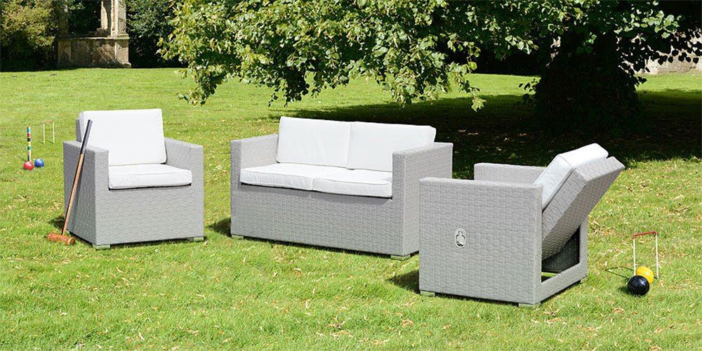 MY-Furniture CUBO Lounge Set in Grau