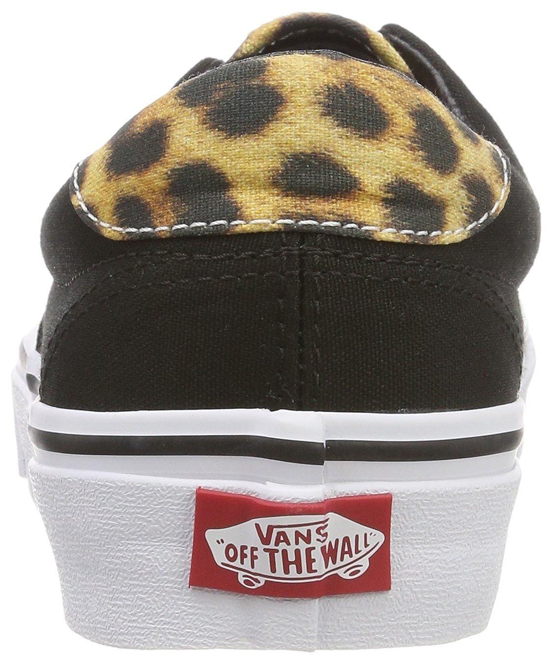 8d2b275381 Vans New Unisex Black Leopard Canvas Low Cut Lace Up Skate Shoes -  Black Leopard - UK Size 8  Amazon.co.uk  Shoes   Bags