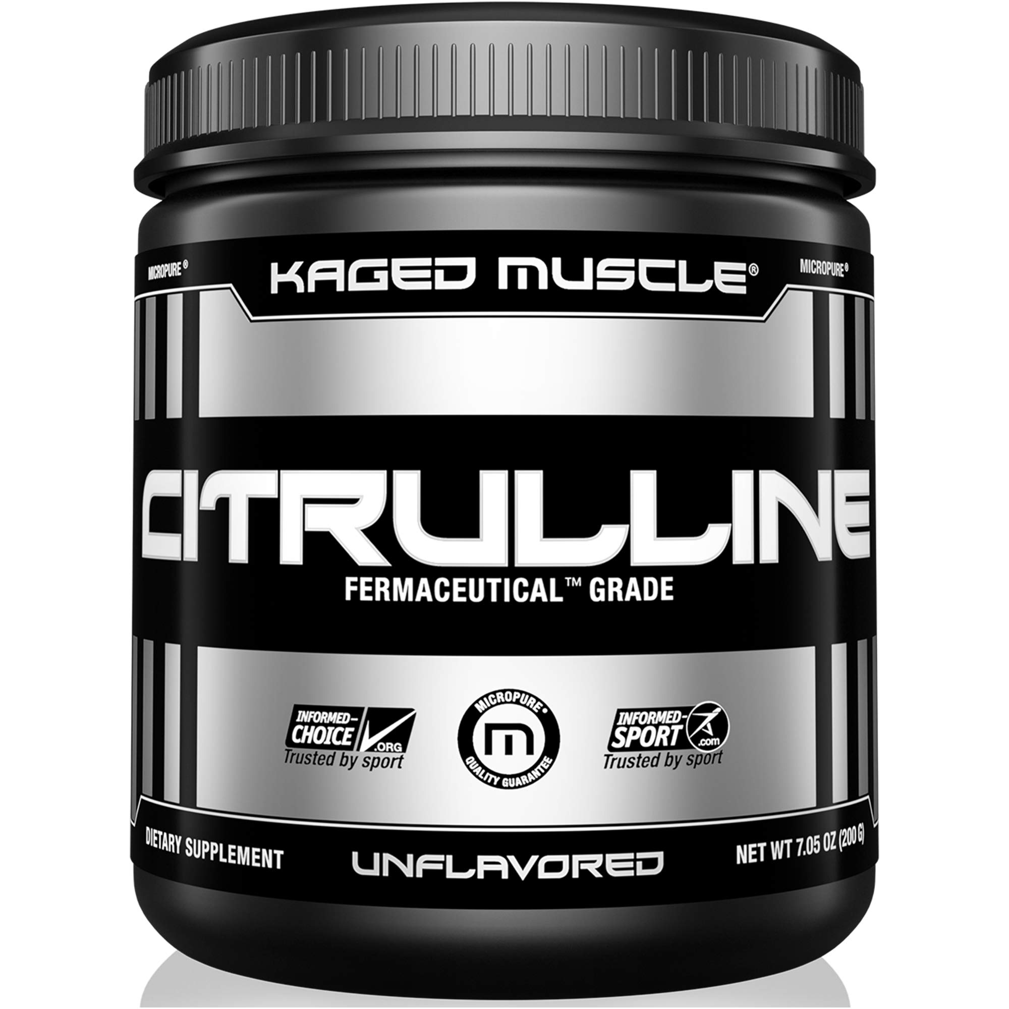 KAGED MUSCLE, Premium L-Citrulline Powder, Enhance Muscle Pumps, Improve Muscle Vascularity, Nitric Oxide Booster, Citrulline, Unflavored, 100 Servings by Kaged Muscle