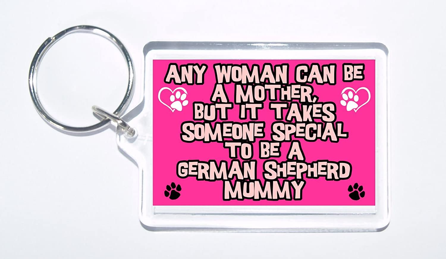Any Women Mother Present//Gift Someone Special German Shepherd Mummy Keyring