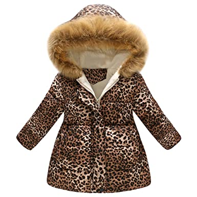 7c167f62e047 Amazon.com  Vicbovo Little Girls 2018 Winter Warm Long Coat Kids ...