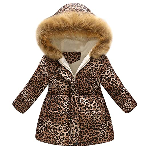 3f3090eb9 Amazon.com  Coats for Kids Binmer Girls Boys Leopard Print Winter ...