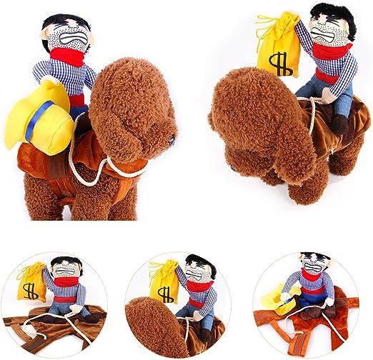 Weehey Cowboy Rider Disfraz de Perro Mascota Decoración de ...