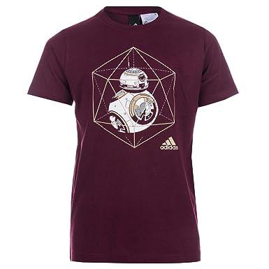 485015e5f adidas Boys Infant Boys Star Wars BB-8 T-Shirt in Burgundy - 4-5: adidas:  Amazon.co.uk: Clothing